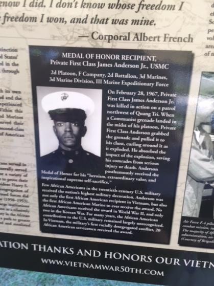 Medal of Honor Winner James Anderson Jr.