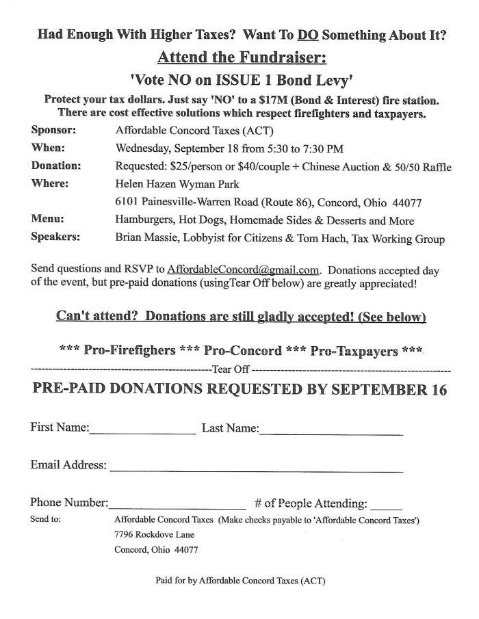 Concord Fundraiser