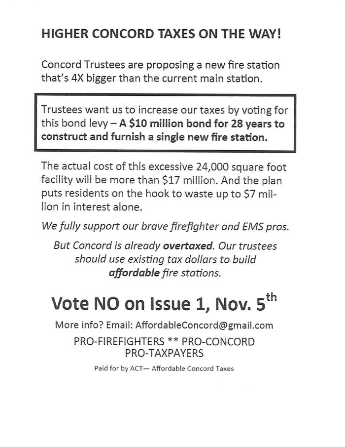Higher Concord Taxes