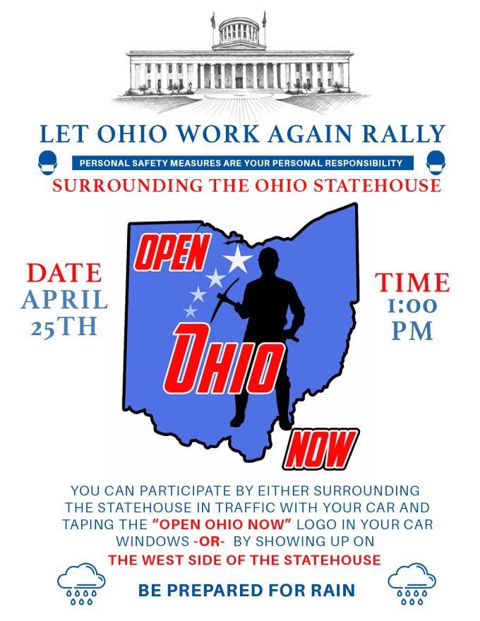 Open Ohio Now Rally Flyer