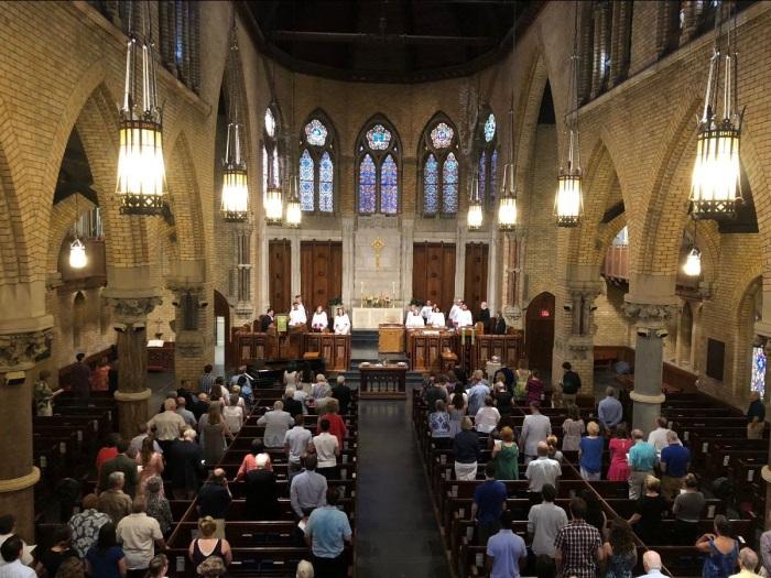 sam adams church picture