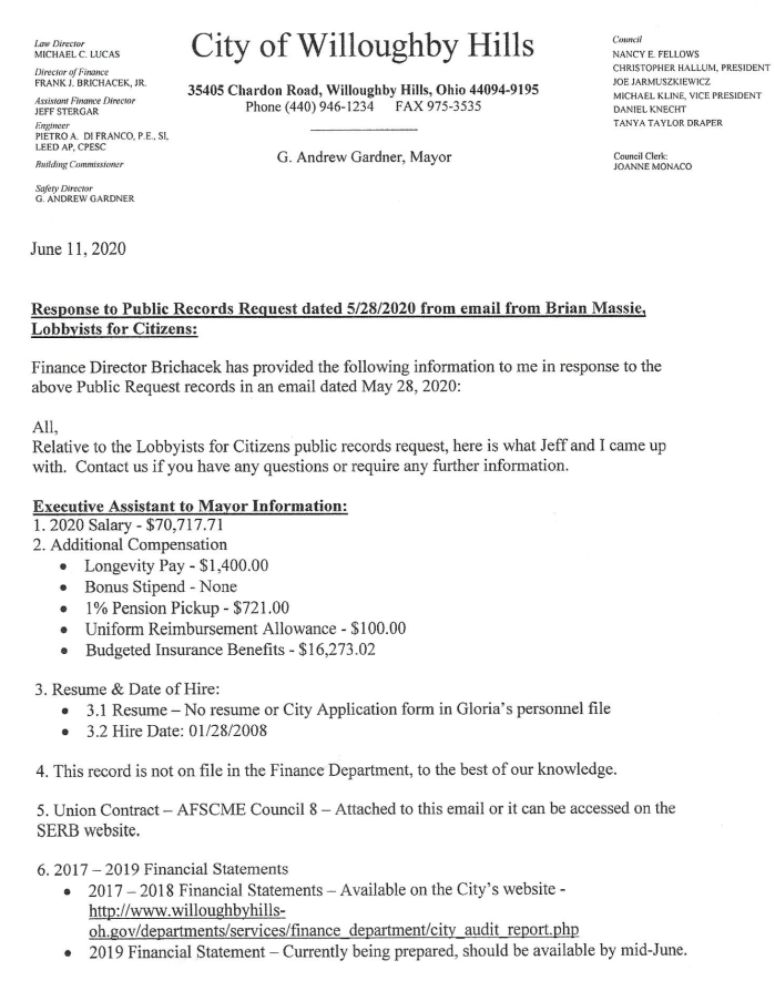 WH Response page 1